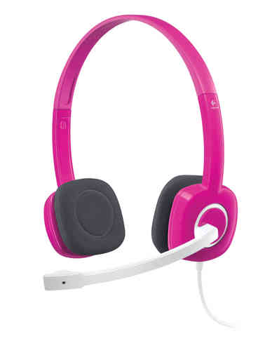 Auriculares Logitech H150 estéreo headset cramberry